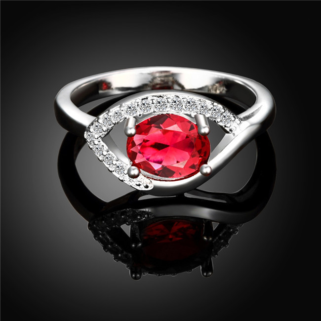 2016 Hot Fashion Jewelry silver rings with zircon beautiful birthday present top quality factory price