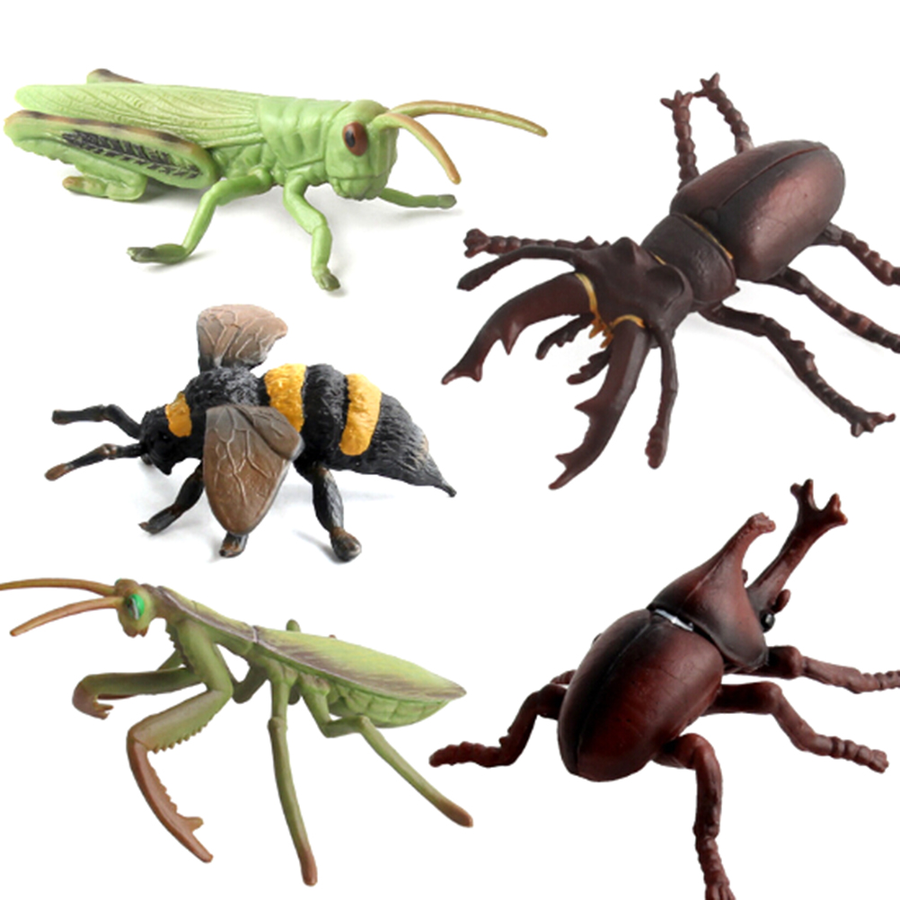 Simulation Animals Model Insect Stag Beetle Spider Bee Ladybird Mantis Butterfly Figurine