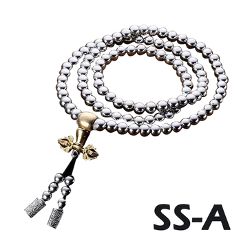 High Quality Outdoor 108 Buddha Beads Self Defense Hand Bracelet Necklace Chain Full Steel Chain Personal Protection Supplies 2