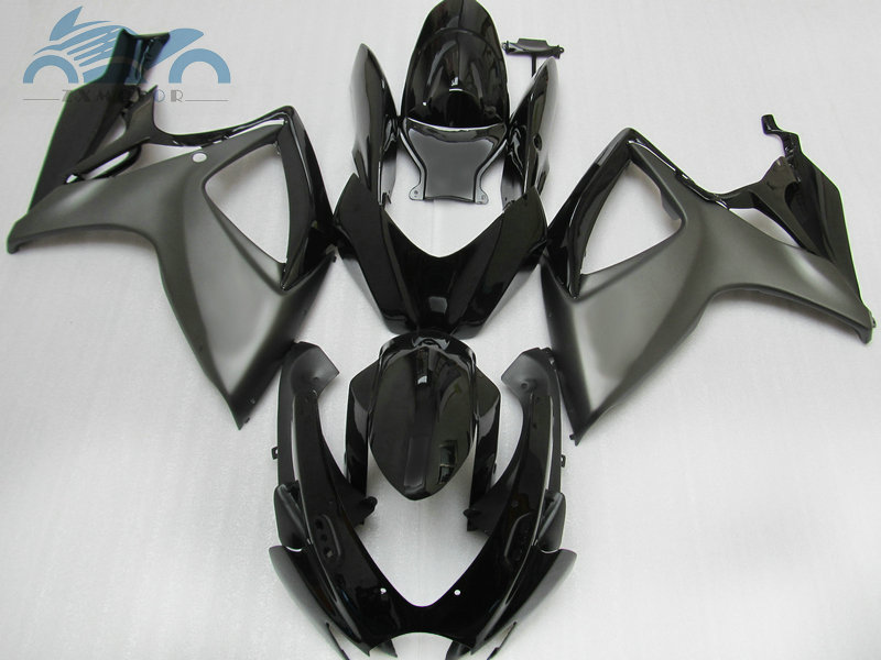 Injection <font><b>Fairing</b></font> <font><b>kits</b></font> for SUZUKI 2006 <font><b>2007</b></font> K6 GSXR600 750 motorcycle racing <font><b>fairings</b></font> <font><b>kit</b></font> GSXR750 <font><b>GSXR</b></font> <font><b>600</b></font> 06 07 matte black set image