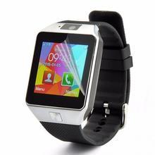 3 stücke 0,33 MM Dicke Gehärtetem Bildschirm Film 9H Transparent Gehärtetem Bildschirm Film schützen ihre DZ09 smart watch perfekt