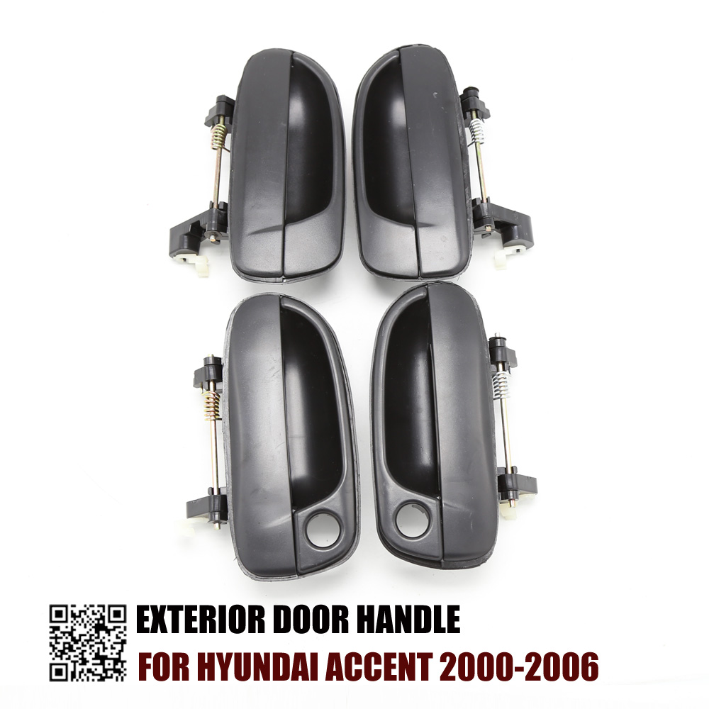 2000 Hyundai Accent Exterior: ONE SET 4PCS EXTERIOR DOOR HANDLE FOR HYUNDAI ACCENT 2000