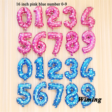 helium balloon number birthday wedding party decoration 16 inch festive event & supplies blue pink