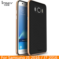 For Samsung J5 2016 IPaky Brand Silicone PC Hybrid Protective Cover Fundas For Samsung J7 2016