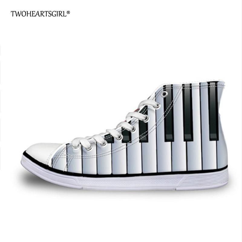Twoheartsgirl Trendy Fashion 2018 High Top Canvas apavi Elpojoši - Sieviešu apavi