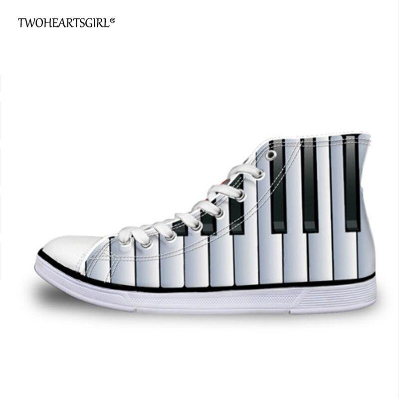 Twoheartsgirl Trendy Fashion 2018 High Top Canvas Shoes Breathable Female Ladies Vulcanize Shoes Unique Women Sneakers Plus Size