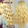 Sunnymay 613 Cabelo Humano Full Lace Wigs Loira Onda Solta Cabelo Humano brasileiro Cheia Do Laço Peruca Natural Da Linha Fina Dianteira Do Laço peruca