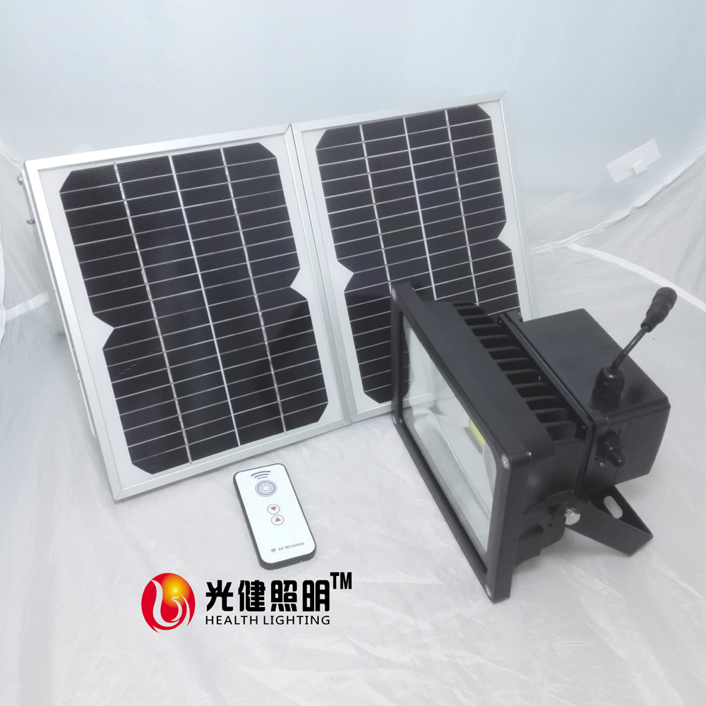 20W RF Remote Controller Solar LED Outdoor Flood Light  Solar Lamp Garden light Remote control stepless dimming