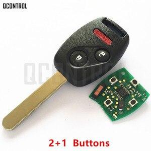 Image 4 - QCONTROL سيارة مفتاح بعيد دعوى لهوندا CE0891 HLIK 1T أكورد عنصر الطيار CR V صالح إنسايت مدينة جاز أوديسي فلييد 433 ميجا هرتز HR V