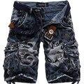 2016 Новые летние мужчины военных грузов шорты бермуды masculina джинсы мужской моды мешковатые шорты-карго (без ремня)