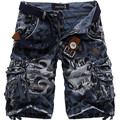 2016 Nuevos hombres del verano de carga militar pantalones cortos bermuda masculina pantalones vaqueros masculinos de moda baggy cargo shorts (sin cinturón)