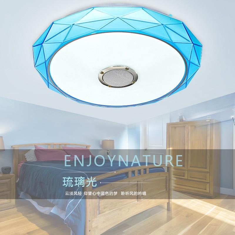 Led Bluetooth music ceiling lamp child protection eye bedroom lighting creative lighting