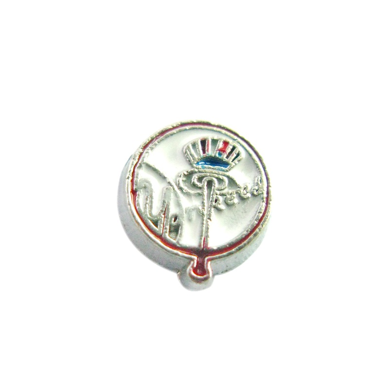20PCS Enamel Floating Charms Alloy Sports Team Charms Fit Glass Living Memory Lockets