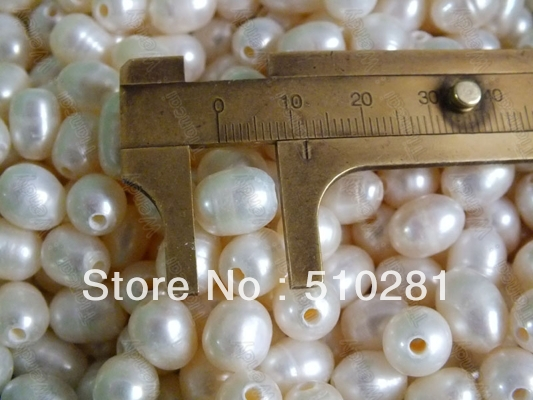 500 szt 2.5mm otwór 9 10mm owalne koraliki z pereł słodkowodnych rice w Koraliki od Biżuteria i akcesoria na  Grupa 1