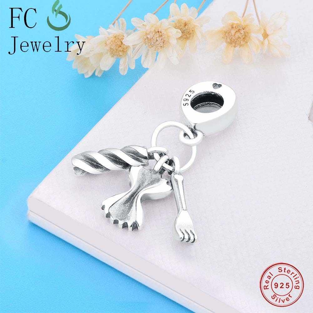 45ab06cbf ... Authentic 100% 925 Sterling Silver Cute Robot Charm Heart Beads Fit  Original Pandora Charm Bracelet ...