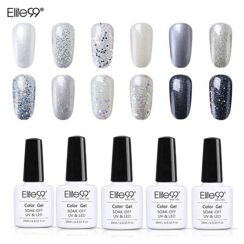 Elite99 remojo brillo de Color de esmalte de uñas de Gel UV 10ml laca necesita LED lámpara capa superior para base barniz Semi permanente de esmalte