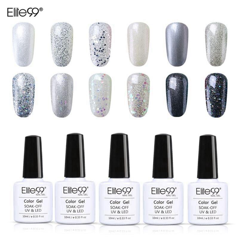 Elite99 отмачиваемый Блестящий жемчужный цветной лак для ногтей УФ гель 10 мл Лак нужен светодиодный светильник базовый верхний слой лак Полуперманентная эмаль nail polish color nail polishnail polish enamel   АлиЭкспресс