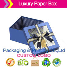 luxury gift boxes with window on lid paper gift boxes large cardboard boxes for Jew packaging(China)
