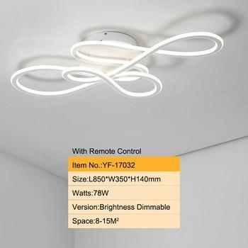 Double Glow modern led Chandelier for living room bedroom lamparas de techo dimming ceiling chandeliers lamp fixtures 9
