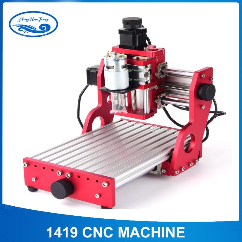 CNC1419 all metal piccolo desktop di incisione/rame metallo di alluminio macchina per incisione/macchina per incidere di CNC macchina