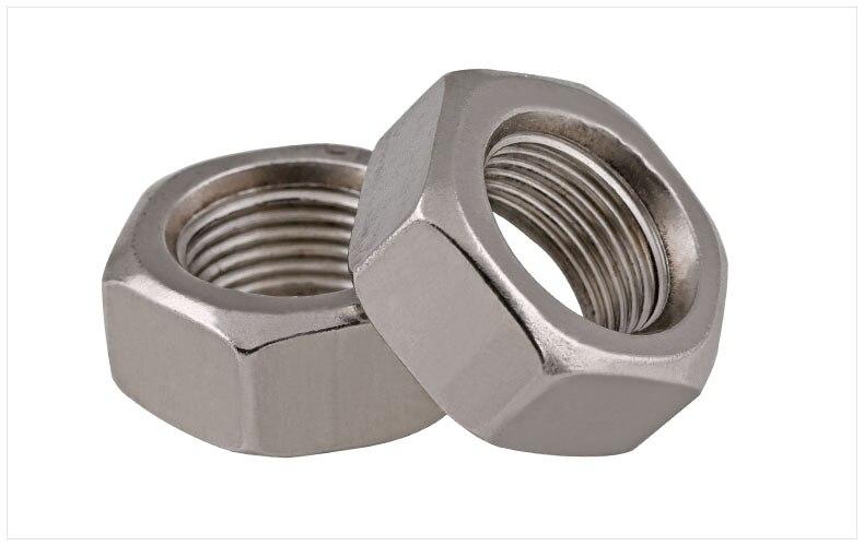 DIN934 304 stainless steel hexagon nuts fine thread M6*0.75 M8*0.75 M10 M12 M14 M16 M18 M20 M24 nut cap screw cap 1pcs m12 130mm m12 130mm m12x130 thread length 36mm 304 stainless steel din931 partial thread hexagon head screw