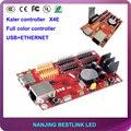 Калер привело плату управления для rgb светодиодная вывеска сообщение знак программируемый знак X4E 64*1024 пикселей led контроллер карты питания