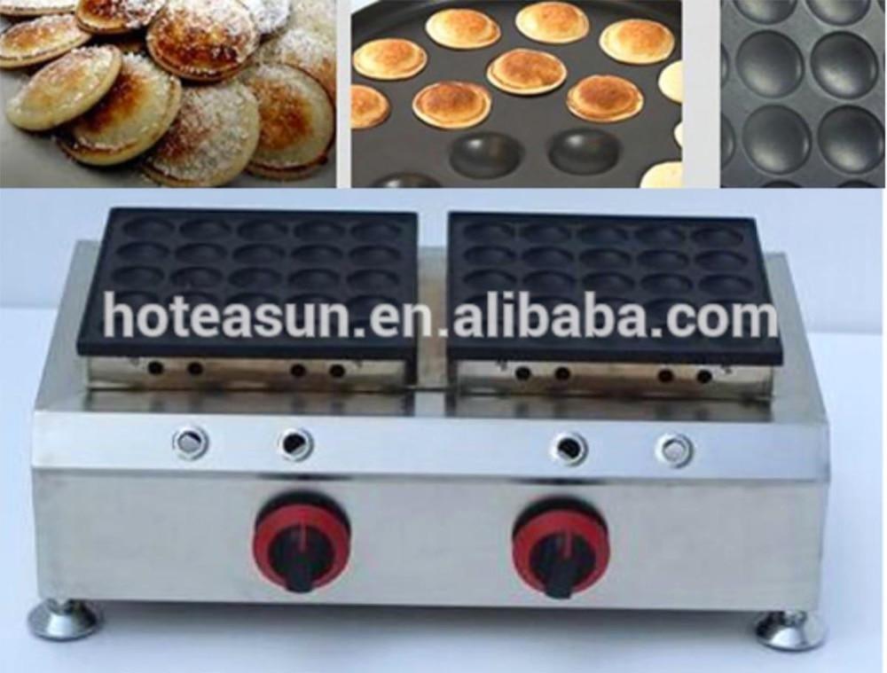 50pcs Commercial Use Non-stick LPG Gas Poffertjes Pancakes Baker Maker commercial use gas triangle wheat cake baker