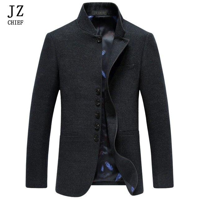 Aliexpress.com : Buy JZ CHIEF Men Mandarin Collar Blazer Men Slim ...