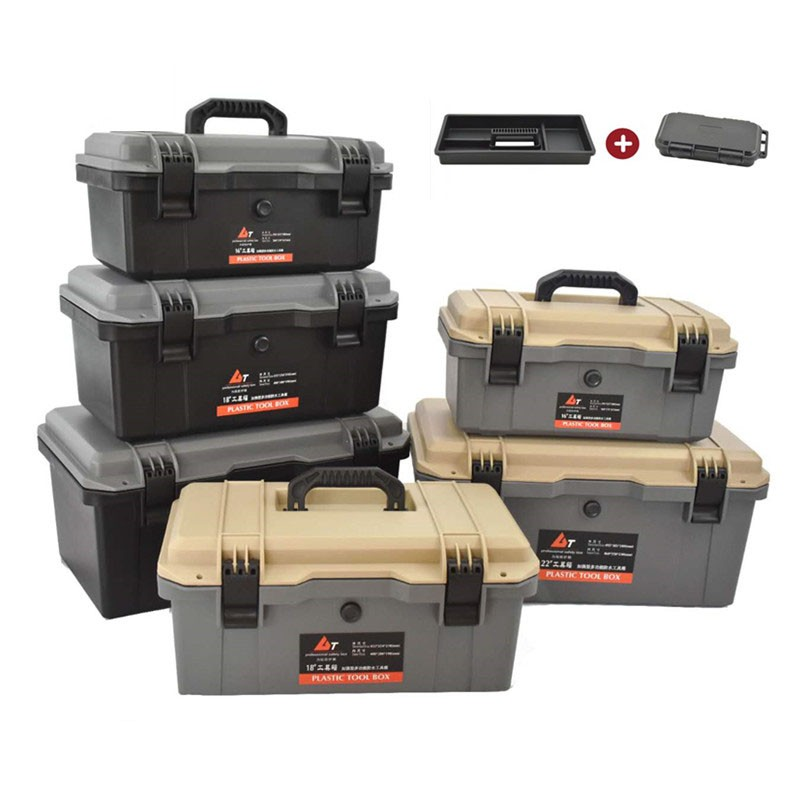 Waterproof Tool case Suitcase Hardware Tool box Seal box Shockproof Case Plastic Home Car repair Toolbox