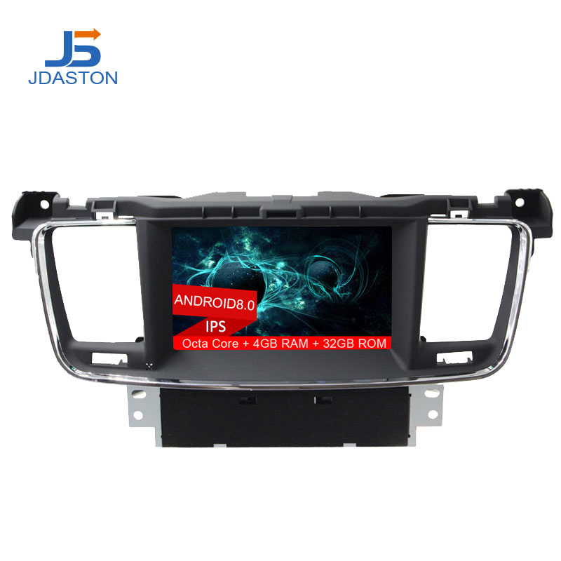 JDASTON Android 8.0 Car DVD Player For PEUGEOT 508 Stereo GPS Navigation multimedia Auto Audio Radio Octa Cores 4G+32GHeadunit