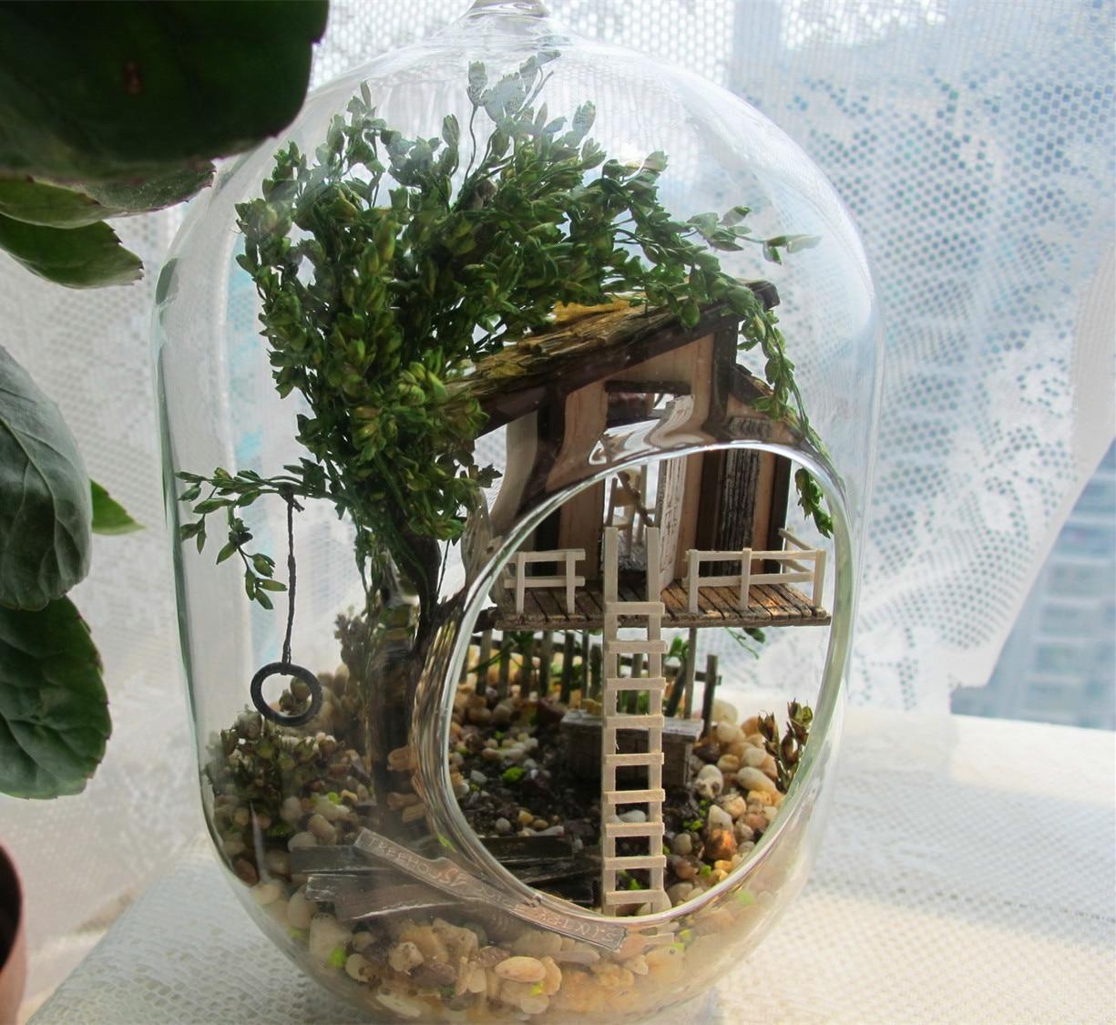 Unique Toys Glass House DIY Jungle Elf House, Novelty Handmade ...