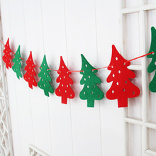 fashion hot sale 4pcs/pack creative Christmas decoration tree hanging banner cloth christmas decorations for home