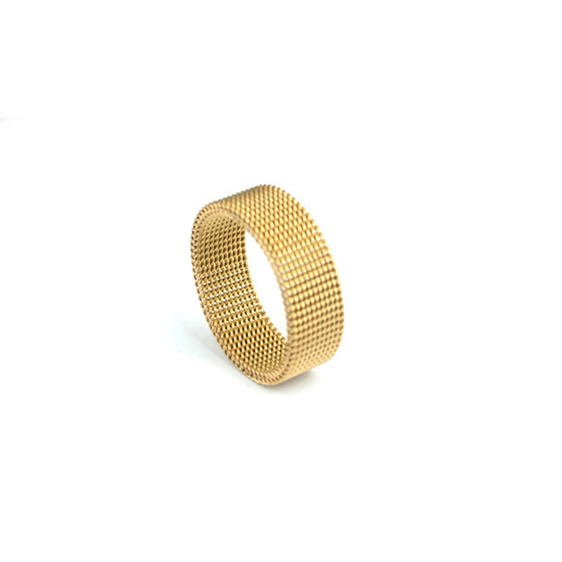 Free Shipping Stainless steel jewelry Silver Gold Black Ring Fashion Net Ring Women Men Gift Silver Jewelry Finger Rings in Rings from Jewelry Accessories