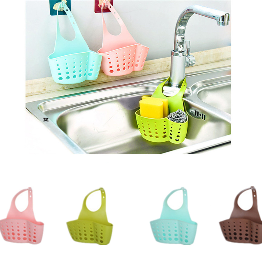 Organizer Sink-Shelf Drain-Rack Soap Bathroom-Holder Sponge Storage Kitchen-Accessories