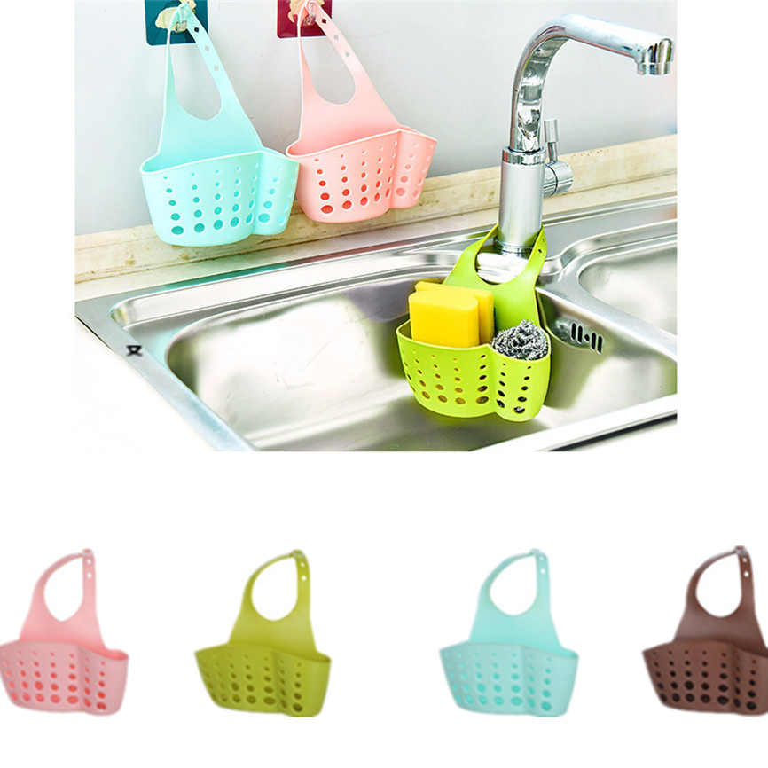 Sink Shelf Soap Sponge Drain Rack Bathroom Holder Kitchen Storage Suction Cup Organizer Sink kitchen Accessories cosas de cocina