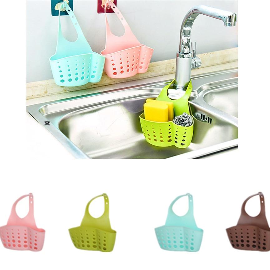 Sink Shelf Soap Sponge Drain Rack Bathroom Holder Kitchen Storage Suction Cup Organizer Sink Kitchen Accessories Cosas De Cocina