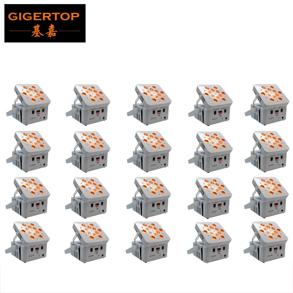 TIPTOP TP-G3038-6IN1 20XLOT RGBWA UV 6IN1 Kebebasan dj Led Par Light Sepenuhnya Tanpa Wayar 12X18 Watt LED Basuhan Peralatan D-Fi System