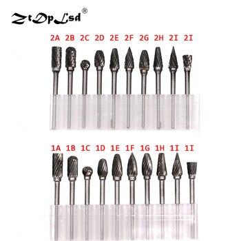 ZtDpLsd 3 มิลลิเมตร Shank CNC Tool Grinders อุปกรณ์เสริมทังสเตนคาร์ไบด์เครื่องตัดโรตารี่ไฟล์เครื่องตัดไม้หัวข...