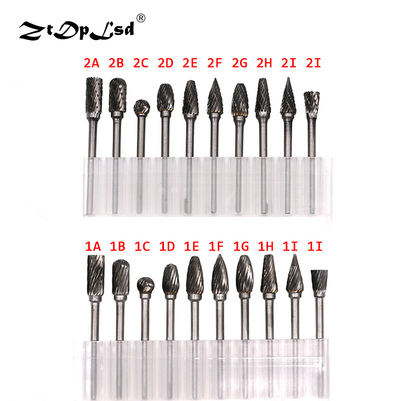 ZtDpLsd 3mm Shank CNC Tool Grinders Accessories Tungsten Carbide Cutter Rotary File Woodworking Milling Cutter Polishing Head