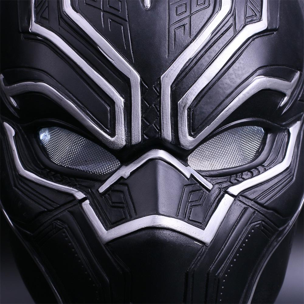 2017 New Captain America Helmet Black Panther Helmet  Civil War Cosplay Mask  Halloween Party Prop (10)