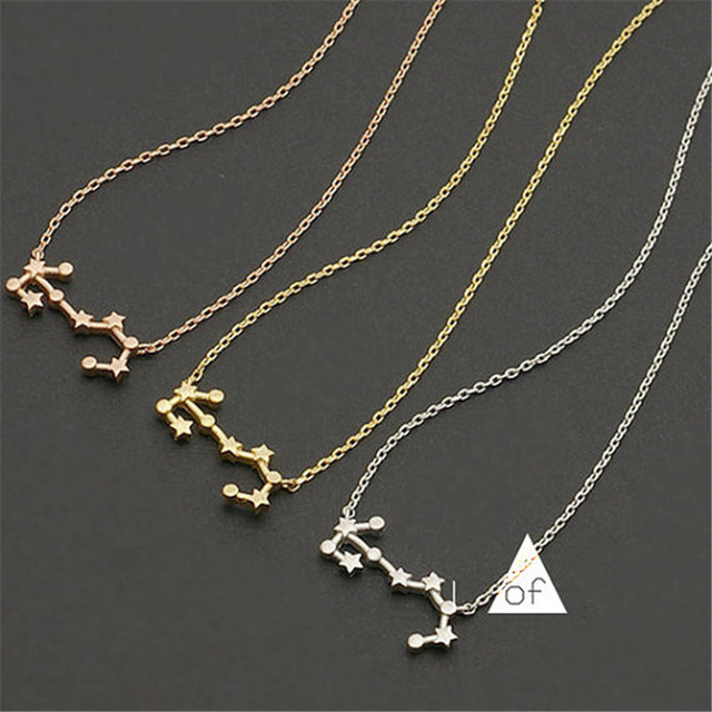Scorpio Constellation Necklace Zodiac Necklace Star Sign Necklace for  Friend Gift Gold Silver