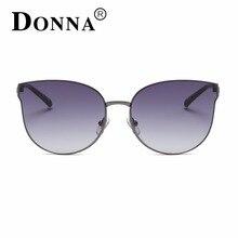 DONNA Fashion Sunglasses Classic Brand Designer Metal Pink Retro Mirror Sun Glasses Female High Quality Oculos Feminino D102