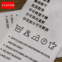 Factory Customized Made Garment Washing Label Ribbon Clothing Printed Personalized Clothing Labels Sewing Garment Accessories