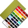 Envío gratis Japonés Kuretake color sólido tradicional pintura de acuarela 36 pigmento de color suministros de pintura