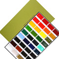 Free shipping Japanese Kuretake traditional solid color watercolor painting 36 color pigment painting supplies