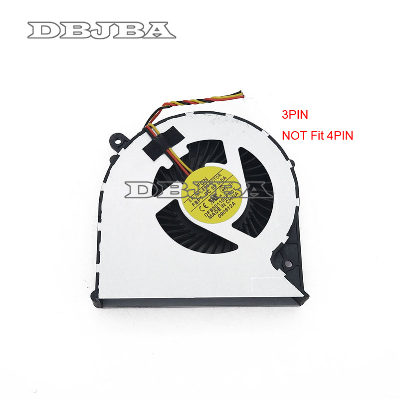 Fan for Toshiba Satellite C850 C855 C875 C870 L850 L870 DFS501105FR0T MF60090V1-C450-G99 3 PIN Laptop CPU Cooling Fan image