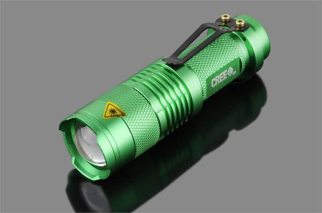 LED Tactical Mini LED Flashlight CREE Q5 2000LM Powerful Flashlight LED Laterna 3Modes Zoomable Portable 6Colors Torch