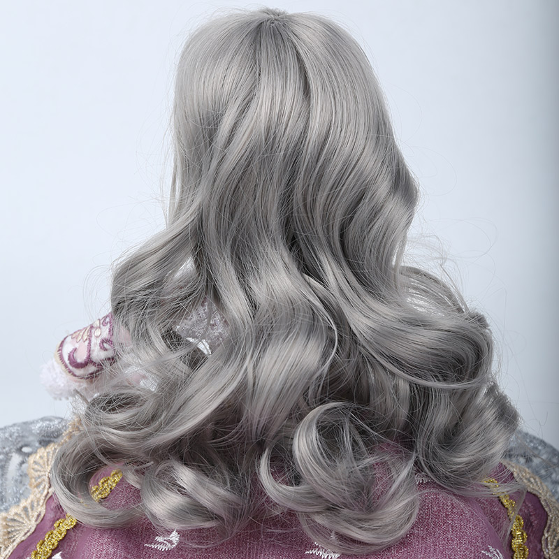 Cateleya doll accessories BJD SD doll hair can DIY hair Long curly hair big wavy gray dark brown 1/3 1/4 Wig free shipping
