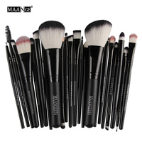 5 Colors Of Wood And Nylon Professional Fashion High Quality Makeup Brush 22Pcs Set