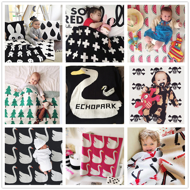 22 models!Fashion autumn winter Heart Cross Swan Cloud Tree Knitted Blanket,baby blanket children throw blanket,sofa bed blanket